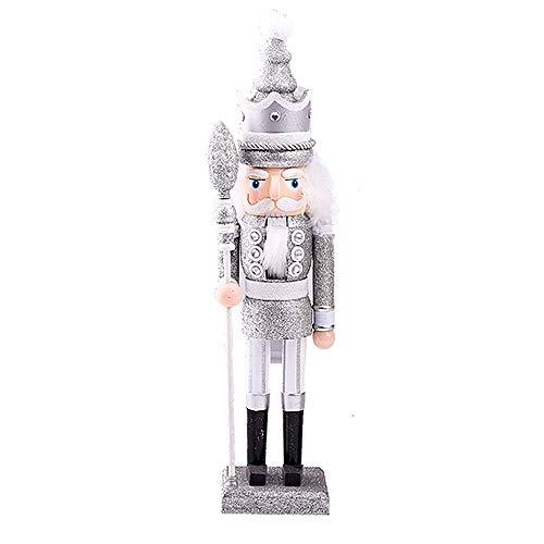 Langde Nussknacker Holzfigur Soldat, 42 cm Nußknacker Wood Dekorativ, Traditionell Puppe Figur Klassisch aus Holz zum Weihnachten, Nutcracker Christmas Decoration
