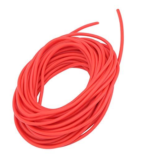 DAUERHAFT Tubo de látex con Banda de Goma rápida de resiliencia 10M Rojo, Usado para Caza con tirachinas DIY