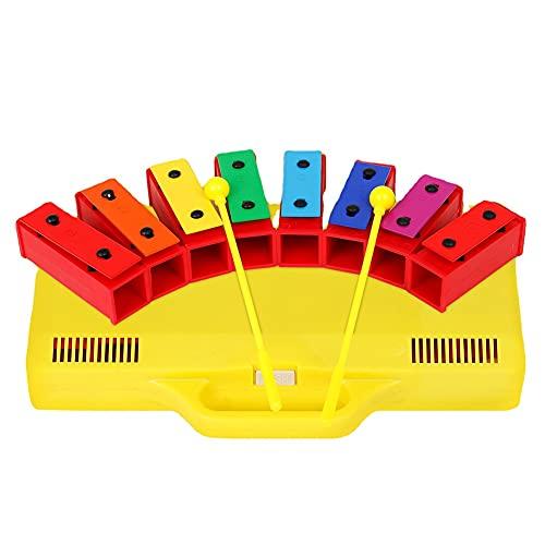 Milkvetch XilóFono Glockenspiel Campanas de Resonador CromáTico de 8 Notas con Estuche Amarillo