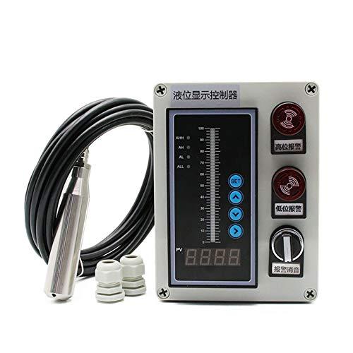 ZFX-SHUIBENG, 1SET 4-20MA 0-5 V 0-10 V Salida del transmisor del sensor del nivel de aceite líquido Agua Detección Controlador Interruptor de flotador a prueba de agua de la bomba Caja de montaje