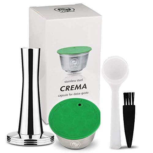 BRBHOM Recargable Dolce Gusto Cápsula de Café Reutilizable Recargable Dolce Gusto Filtro de Café Compatible para Dolce Gusto, con Cuchara de café, Cepillo (Capsule)