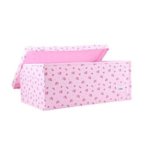 motivo fiori rosa Scatola portaoggetti piccola Minene