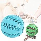 2 Piezas Pelota para Perros, Bola de Limpieza de Dientes Juguetes para Perros Mascotas Pelota de Goma Elástica para Perros Domésticos de Varios Tamaños