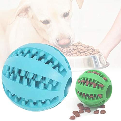 Hundespielzeug Ball,Funktion Noppen Hundespielzeug aus Naturkautschuk,2 Pack Trainingszahn Intelligenzspielzeug für Hunde Ball mit Zahnreinigung Spielzeug (Grün & Blau)