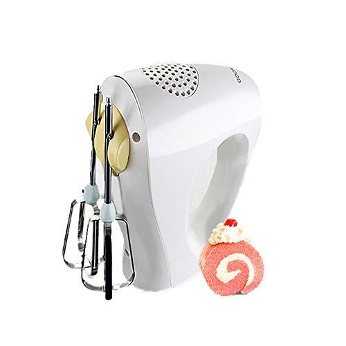 TYI Speed Compact Handmixer, 150W Küchenhand-Schneebesen, Edelstahlklingen Hochleistungs-Mini-Küchenmixer, weiß