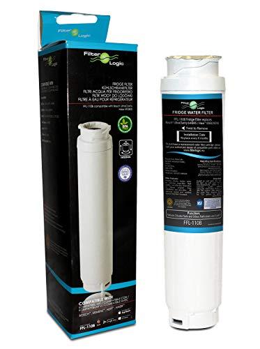 FilterLogic Lot de 2 filtres à eau FFL-110B pour réfrigérateur UltraClarity 00740560, 740560/644845 pour Bosch, Siemens, Neff, Gaggenau, Miele, HAIER 0060820860, RF-2800-13, SUPCO WF299 (1)