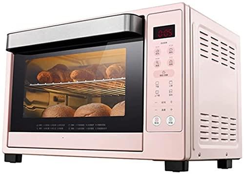 Brödrostugnluftfrysare, 35L Elektrisk ugnskonvektionsugn Digital Bänkskivor Rotisserie Ugn Pizza Oven 10-i-1 Multi-Function Toast/Roast/Broil/Bake/Dehydrate | Recept/Rosa Air Fryer