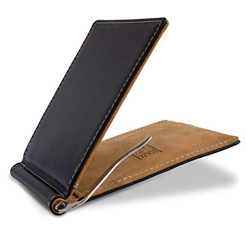 ✔ DISEÑO COMPACTO - Esta cartera minimalista convence por sus dimensiones increíblemente pequeñas de 11,5 x 9 x 1 cm y un peso de sólo 64 g. ✔ PROTECCIÓN RFID - El monedero de los caballeros delgados fabricada de piel / cuero de primera calidad cuent...