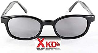 X-KD's Unisex-Adult Biker sunglasses (Silver/Smoked,  One Size)