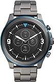 Fossil HR Latitude - Hybrid Smartwatch mit grauem Edelstahlarmband für Herren FTW7022