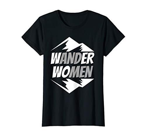 Damen Wander Women Wanderspruch für Frauen die gerne Wandern T-Shirt