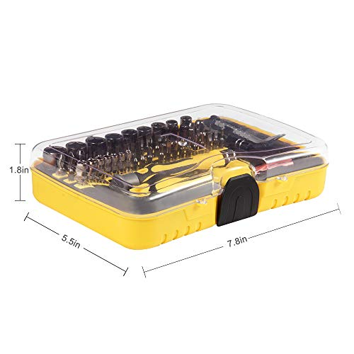 Aosky Professional Precision Magnetic Screwdriver Sets-70 in 1 Electronic Repair Tool Kit Kinds of Screwdriver Bits Apply to Phone, iPhone, iPad, Watch, Tablet, PC, Laptop and More