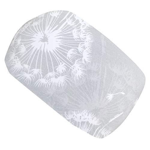Wollhuhn ÖKO Damen/Mädchen Süßes PUSTEBLUME Haarband/Stirnband Grau/Weiß (aus Öko-Stoffen, bio) 20194004