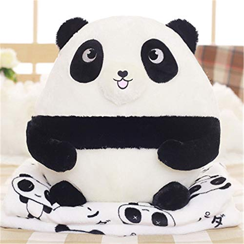 KCCCC Travel Blanket and Pillow Original Cute Panda Dada Pillow Cushion By The Office Waist Big Flannel Blanket Size 40x40cm PremiSoft 2 in 1 Airplane Blanket (Color : B, Size : 40x40cm)