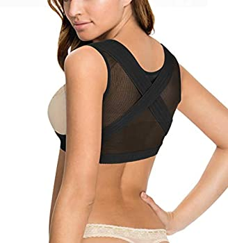 BRABIC Chest Up Shapewear for Women Tops Back Support Posture Corrector Under Clothes  Black 2XL
