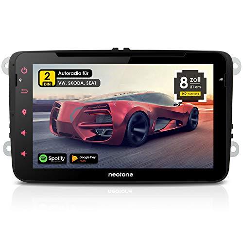NEOTONE WRX-980A Autoradio für VW | Skoda | Sitz | Android 10.0 Q | Navitel Navigation mit Europa Karten 2020 + Lifetimeupdate | DVD | DAB + | USB | WLAN | Bluetooth | MirrorLink | RDS (WRX-980A)