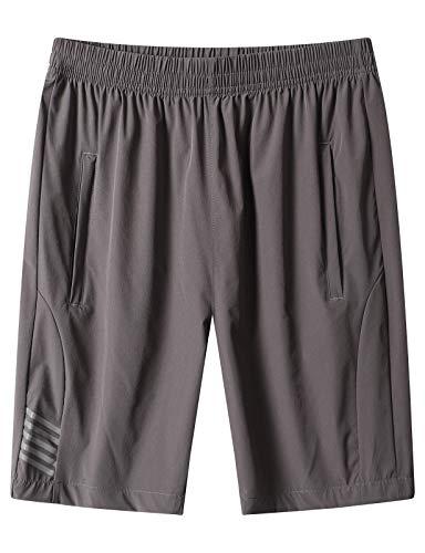 DAFENP Pantalones Cortos Hombre Deporte Running Shorts Deportivos Correr Atletismo Fitness Training...