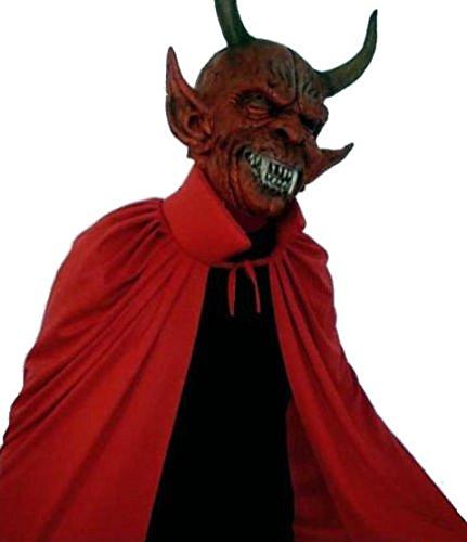 Devil Mask with Cape Adults Fancy Dress