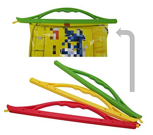Excelity Set of 3 Plastic Bag Sealer Clips Sticks for Food Storage Fresh Keeping Handle Load Weigh 17lbs / 8kg