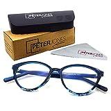 Peter Jones Cateye Blue Light Blocking Reading Glasses for Women, Computer Readers UV 400 Customise Prescription (SIZE MEDIUM) AG129