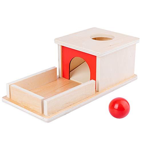 Tauzveok Jardín de Infancia temprano GOL Educación Permanente Game Box Medio de enseñanza Montessori Regalo de los niños de Juguete de Madera del cajón para la Educación,Natural