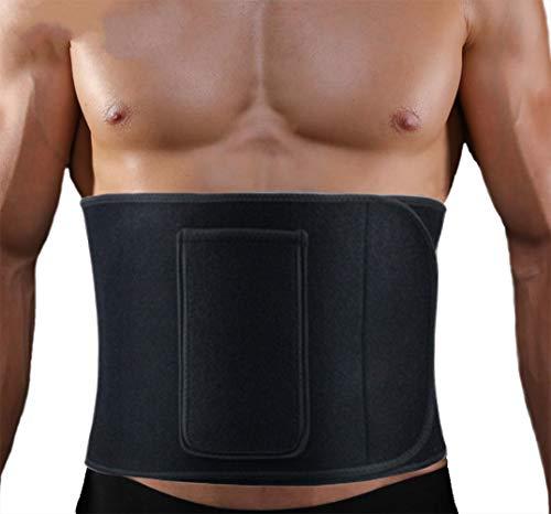 Vintree Cinturón de Sudor Cinturón Abdominal Cinturón Adelgazante para Quemar Grasa Estómago y Espalda Soporte Lumbar Cinturón de Sauna de Neopreno Ajustable Faja Reductora de Neopreno 🔥