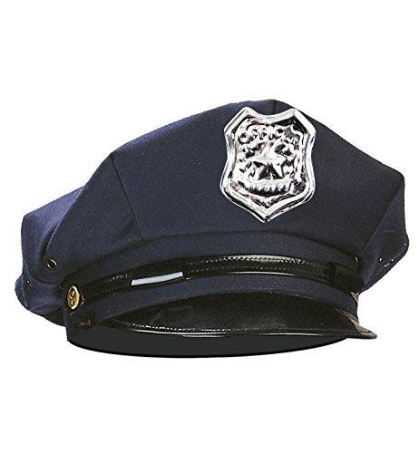 Widmann 8427P – Polizeimütze, Blau, Hut, Kopfbedeckung, Polizist, Ordnungshüter, Police, Karneval, Motto Party