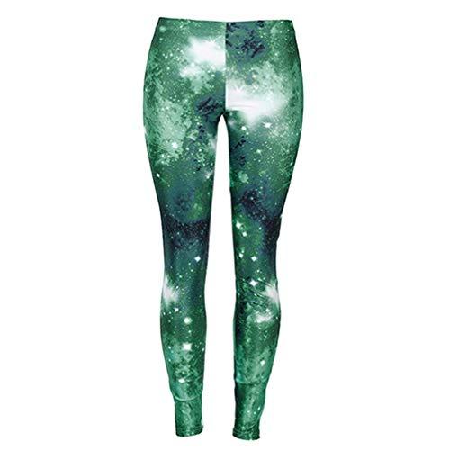 Q.TTRD 3D Gedruckt Legging Galaxy Raum Starlight Leggins Frauen Fitness Dünne Streetwear Hosen Elastische Pushup Skinny L
