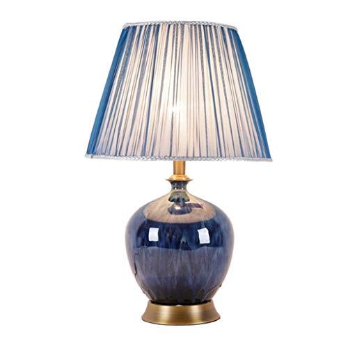 BXU-BG Iluminación decorativa, Reading lámpara- de noche y lámparas de mesa lámpara moderna minimalista de cerámica lámpara de mesa lámpara de mesa de cobre Estudio de la sala de estar dormitorio lámp