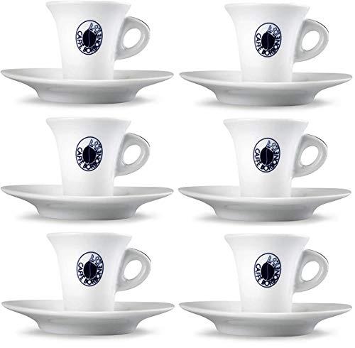 SET 6 TAZZINE CAFFE' BORBONE CON PIATTINO CIALDE CAPSULE PIATTO