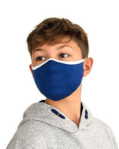 Relaxsan UNIMA KIDS [Blau] – Höflichkeitsband waschbares wiederverwendbar KINDER 6-10 JAHREN - leichtes und atmungsaktives Dryarn und X-Static