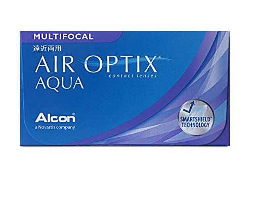 Alcon Air Optix Aqua Multifocal Monatslinsen weich, 3 Stück / BC 8.6 mm / DIA 14.2 mm / ADD HIGH / +1 Dioptrien