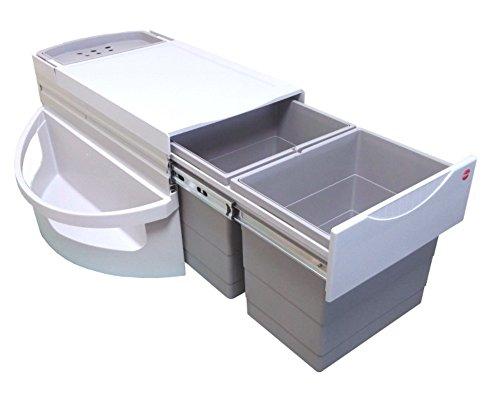Hailo 3645121 Abfallsammler Rondo 90.2/36 für Diagonal-Eckspülenschränke ab 900 mm Breite