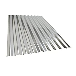 A piece of corrugated metal panel sheet.