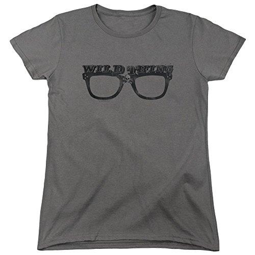 Major League Sports Comedy Movie Wild Thing Baseball Women's T-Shirt Tee Gray