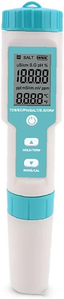 C-600 7-in-1 PH TDS 2021 spring and summer new EC Under blast sales ORP Salinity Meter S.G Sky Bl Temperature