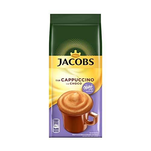 Jacobs Momente Choco Cappuccino, Mild mit Milka Schokonote, Nachfüllbeutel 500g, 75691