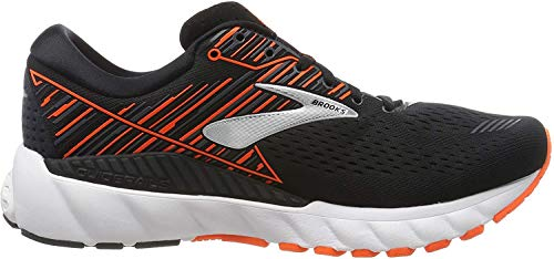 Brooks Herren Adrenaline Gts 19 Laufschuhe, Schwarz (Black/Orange/Silver 092), 46 EU