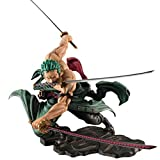 DKaony Anime One Piece Figurine Roronoa Zoro Trois Couteaux Big Thousand World Collection de Figurines en PVC Modèle 18 cm Figurine