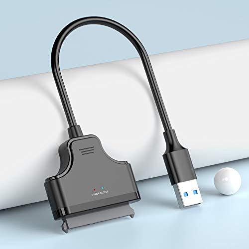 N USB 3.0 Zu SATA Adapter Konverter für 2,5 Zoll Festplatten Laufwerke SSD/HDD, 20cm, Unterstützt UASP