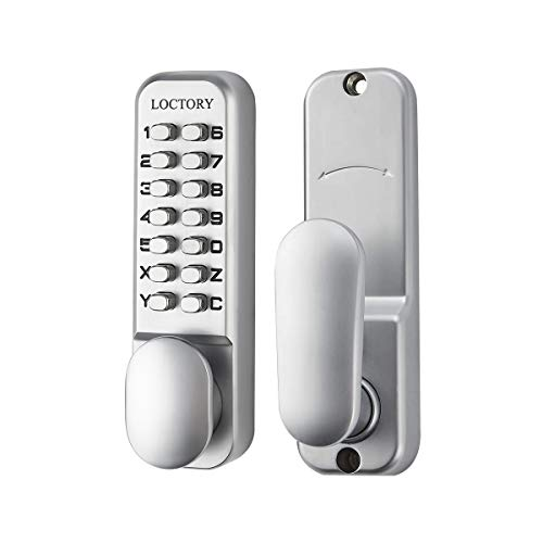 LOCTORY Mechanical Keyless Door Combo Lock Right Handed Keypad Digital Code Safety Entry Gate Home Storage NOT Deadbolt (2-3/4'(70mm) Latch)