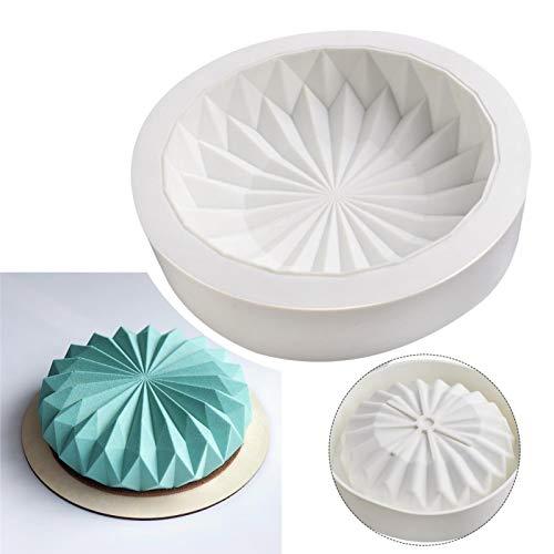 DELITLS Molde para tartas, molde de tubo, sartén antiadherente, para tartas nórdicas, moldes de silicona para tartas, moldes para pan, mousse y postre para platos familiares, fiestas de cumpleaños