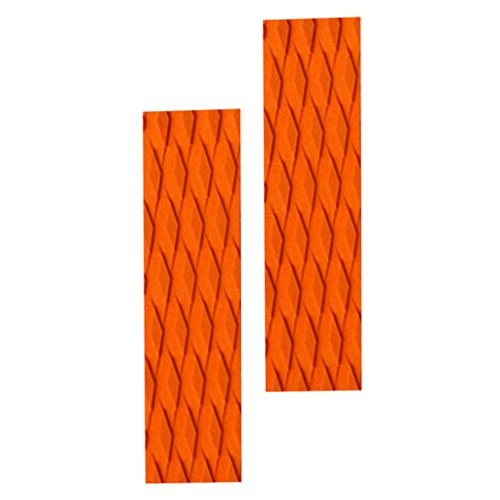 Homyl 2 x Deck Grip Tail Pad Tracción Pad Grip Bar para tabla de surf / Kiteboard / Skimboard - Naranja