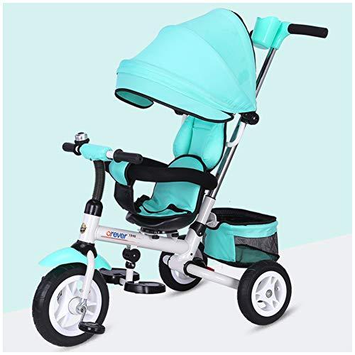 WWSC Zusammenklappbare Kinderwagen/Trike Dreirad Für Kinder Dreirad Fahrrad 1-3-2-6 Jahre Alt Folding Licht...