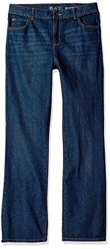 The Children's Place boys Basic Bootcut Jeans, Dk Juptier, 8