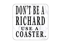 Don't Be a Richard バードリンクコースター4枚セット ギフト 面白いジョーク ホームキッチンバーウェア