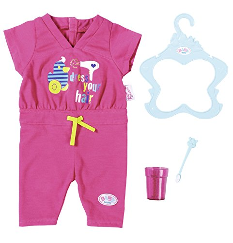 Zapf Creation 823590 BABY born Jumpsuit Puppenkleidung 43 cm, pink
