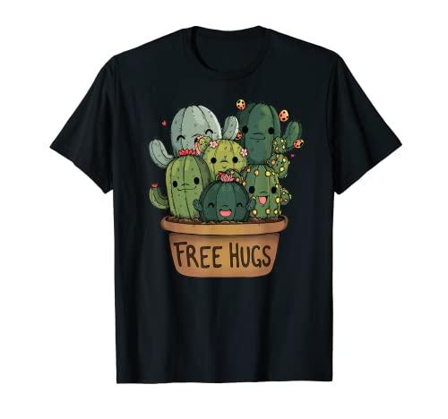 Camiseta de abrazos de cactus gratis   Lindo regalo de Camiseta