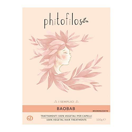 PHITOFILOS - Poudre de baobab - Soins des cheveux - Action émolliente et fortifiante - Soin 100% végétalien - 100 gr