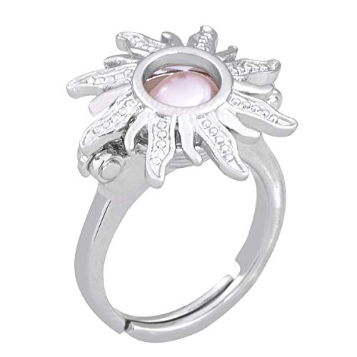 HENGSHENG Hollow Sunflower Shape Adjustable Locket Ring Mounting Pearl Cage Ring Setting (DO NOT Include Any Pearls)